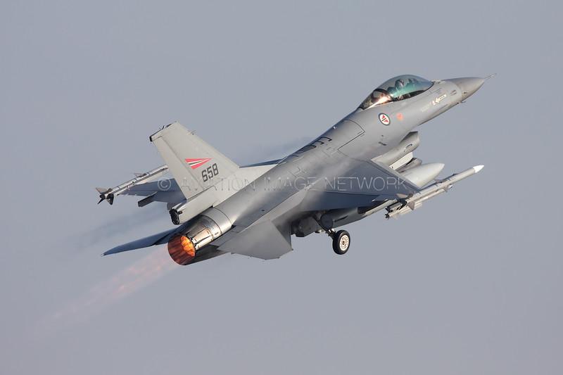 658   General Dynamics F-16AM   Norwegian Air Force