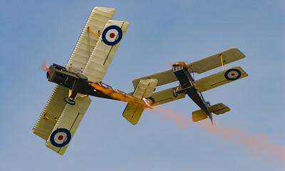Display Team, Royal Aircraft Factory, SE5a (replica), Shoreham, Shoreham 2005, The Great War Display Team, aircraft, airshow