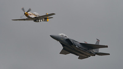 01-2002, 4484847, 494-FS, Boeing, Eagle, F-15, F-15E, McDonnell Douglas, Miss Velma, Mustang, Mustang P51d, N251RJ, North American, RIAT 2007, Strike Eagle, USAFE, United States Air Forces in Europe