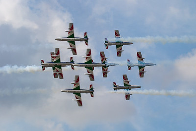Aermacchi, Frecce Tricolori, Italian Air Force, MB-339, Opposition Pass, RIAT 2007