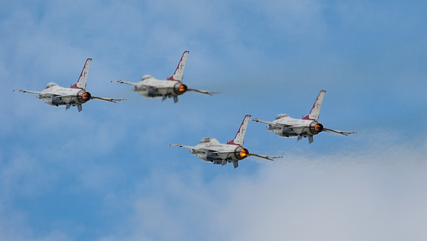 F-16 Fighting Falcon, F-16C/D, Lockheed Martin, RIAT 2007, Reheat, Thunderbirds, US Air Force, USAF Air Demonstration Squadron, Viper