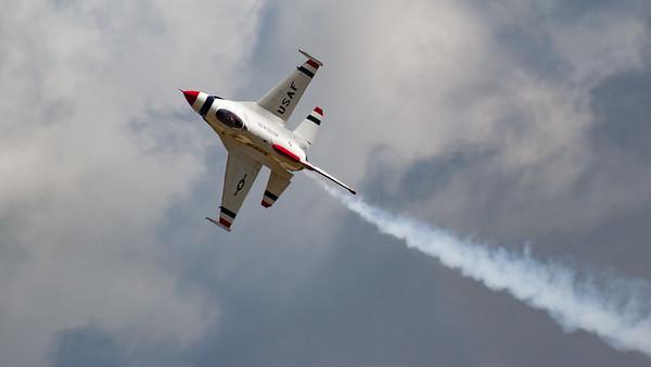 F-16 Fighting Falcon, F-16C/D, Lockheed Martin, RIAT 2007, Thunderbirds, US Air Force, USAF Air Demonstration Squadron, Viper