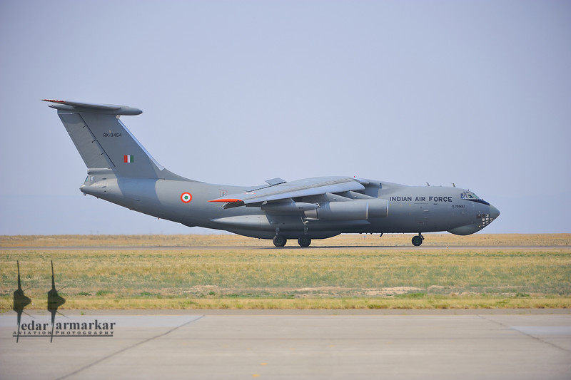 "IL-78MKI from No.78 ""Valorous MARS"" Squadron arrives at Mountain Home AFB"