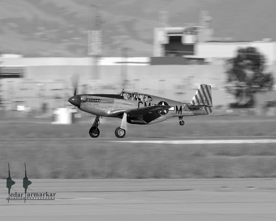 """Collings Foundation TP-51C Mustang """"Betty Jane"""" at Moffett Federal Airfield"""
