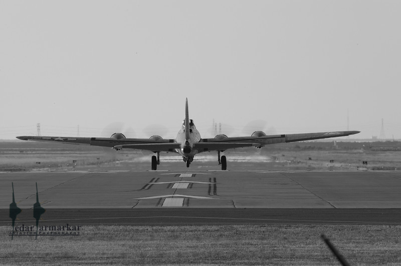 """Collings Foundation B-17 Flying Fortress """"Nine-O-Nine"""" at Moffett Federal Airfield"""