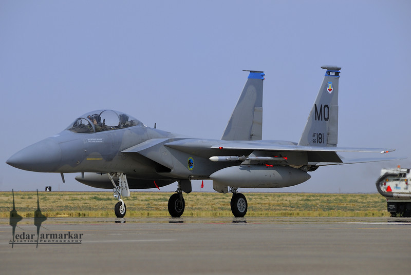 """A F-15C Eagle from the 390th Fighter Squadron """" Wild Boars"""""""