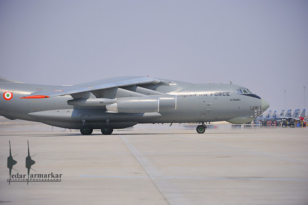 """IL-78MKI from No.78 """"Valorous MARS"""" Squadron on the ramp at Mountain Home AFB"""