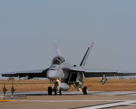 F/A-18F Rhino holding position on the runway