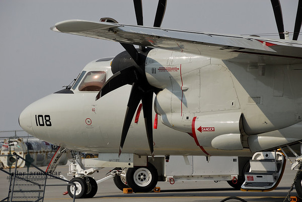 E-2C Hawkeye of NSAWC on the ramp