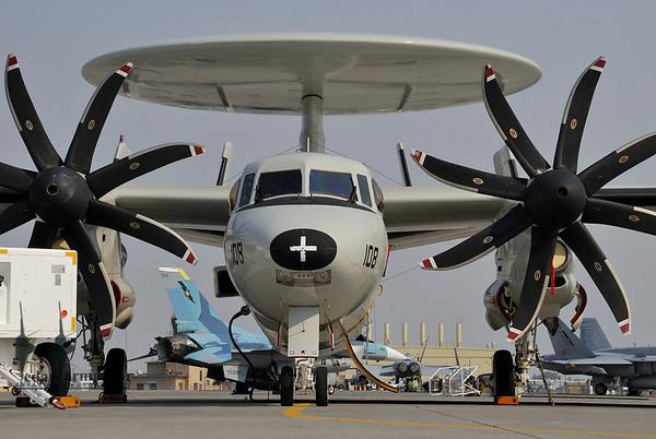 E-2C Hawkeye of NSAWC on the ramp