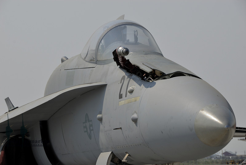 F/A-18C Hornet of NSAWC on the ramp