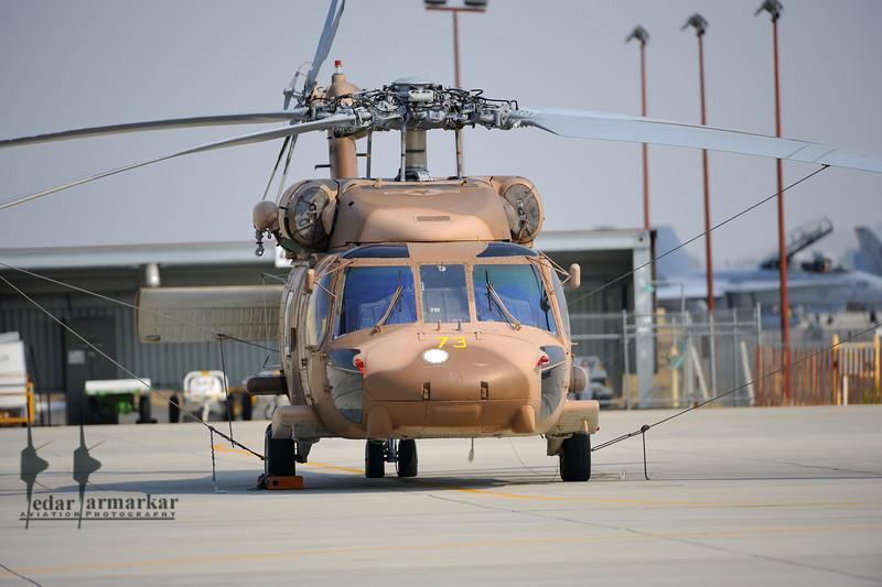 HH-60 Blackhawk of NSAWC on the ramp