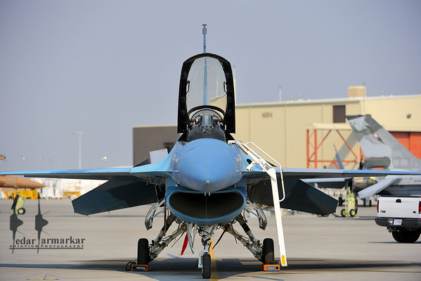 F-16N Falcon of NSAWC on the ramp