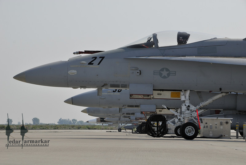 F/A-18C Hornets of NSAWC on the ramp