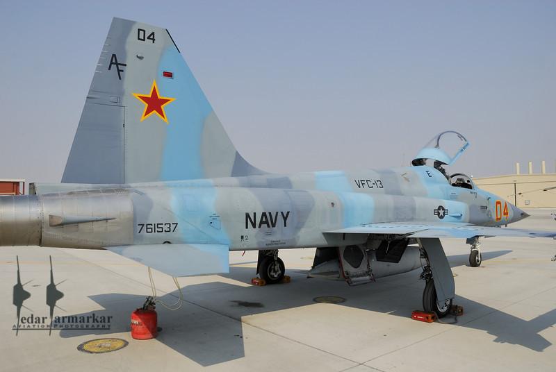 "F-5N of VFC-13 ""Fighting Saints"" on the NSAWC Ramp"
