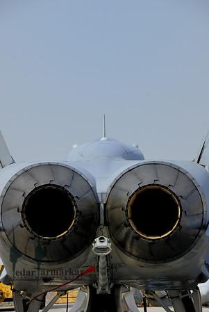 Rear-end of a NSAWC F/A-18C Hornet