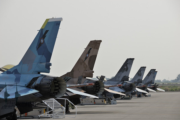 F-16N Falcons of NSAWC on the ramp