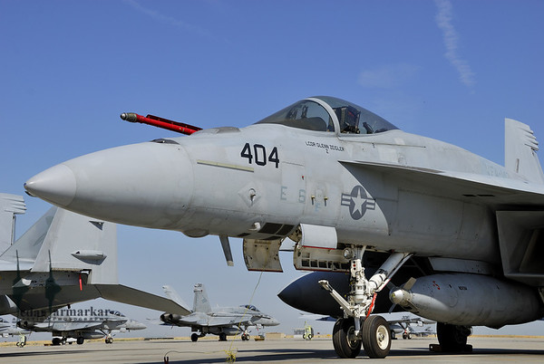 "Rhino configured for ""Recovery Tanker"" duties from VFA-147 ""Argonauts"""