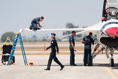 Naval Base Ventura County (NBVC Point Mugu) 2010 Air Show. USAF Thunderbirds.