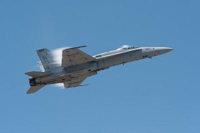 """Naval Base Ventura County (NBVC Point Mugu) 2010 Air Show. McDonnell Douglas F/A-18C Hornet from VFA-125 """"Rough Raiders""""."""