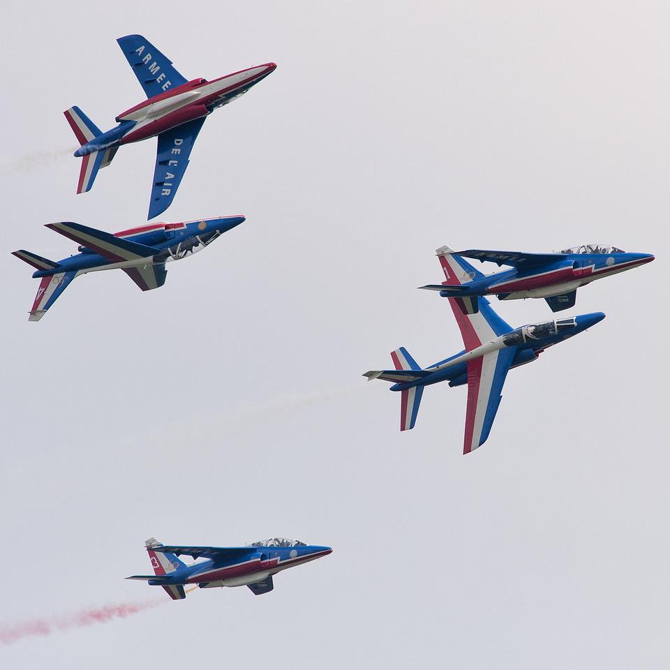 Spotter's Day at Chateaudun AFB, France. Répétition du show de la Patrouille de France.
