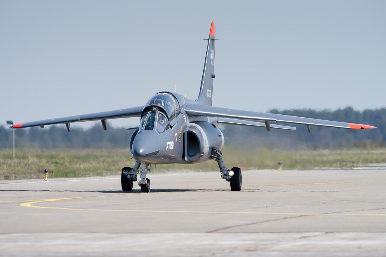 Alpha Jet de l'Advanced Jet Training School. Cazaux AFB, France.