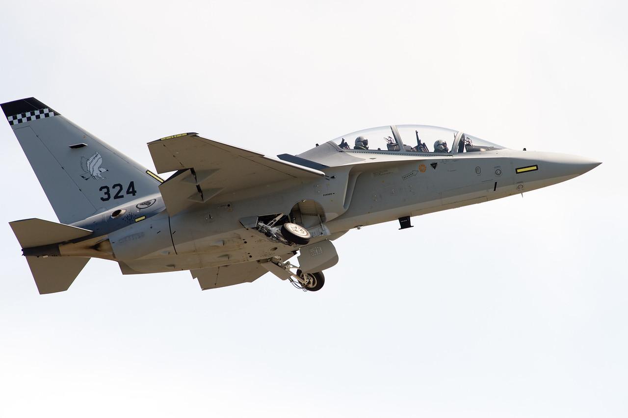 "Alenia Aermacchi M-346 ""Master"". Singapore Air Force 150 Squadron, based at Cazaux AFB, France."