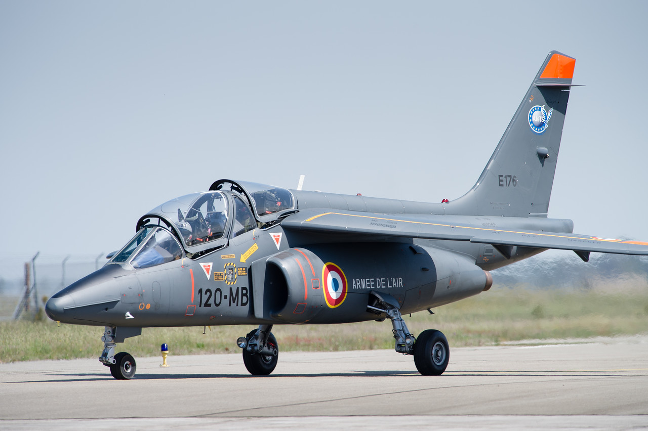 Alpha Jet de l'Advanced Jet Training School. Cazaux AFB, France.