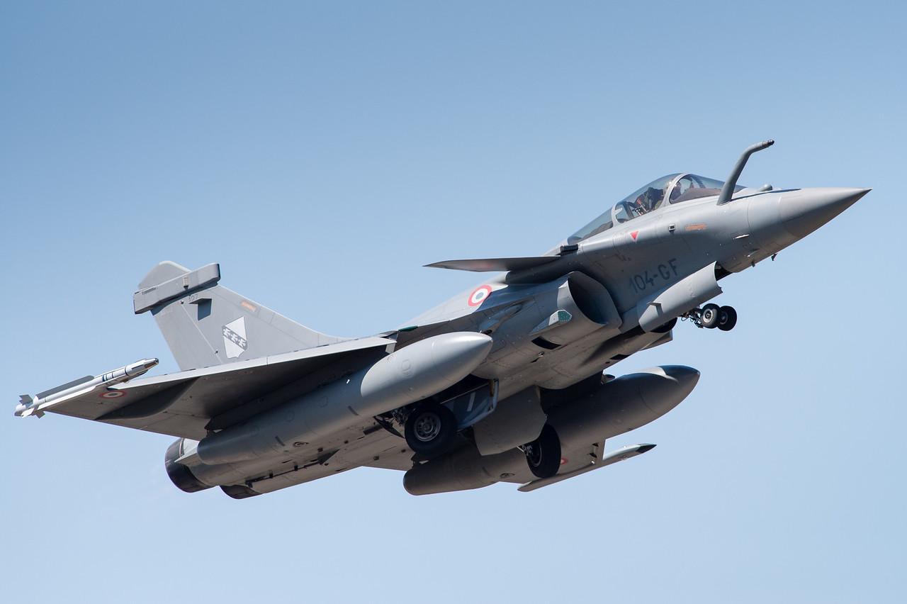 "Rafale #127 from EC 3/30 ""Lorraine"" at Mont-de-Marsan AFB, France."