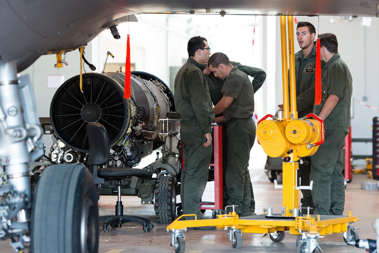 "Rafale #142 from EC 2/30 ""Normandie-Niémen"" at Mont-de-Marsan AFB, France."