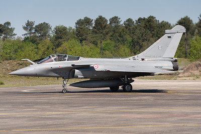 "Rafale #132 from EC 2/30 ""Normandie-Niémen"" at Mont-de-Marsan AFB, France."