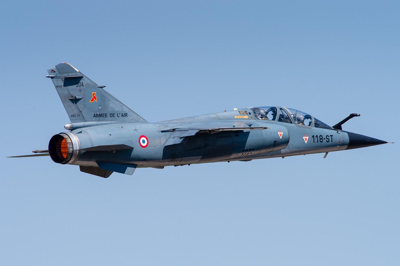 """Mirage F1B de l'escadron de reconnaissance 2/33 """"Savoie"""". Mont-de-Marsan AFB, France."""