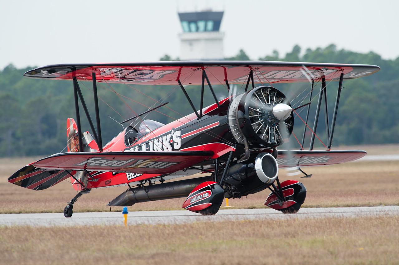 NSAP 2014 Blue Angels Homecoming Airshow. Screamin Sasquatch - John Klatt and it's customed Waco biplane.