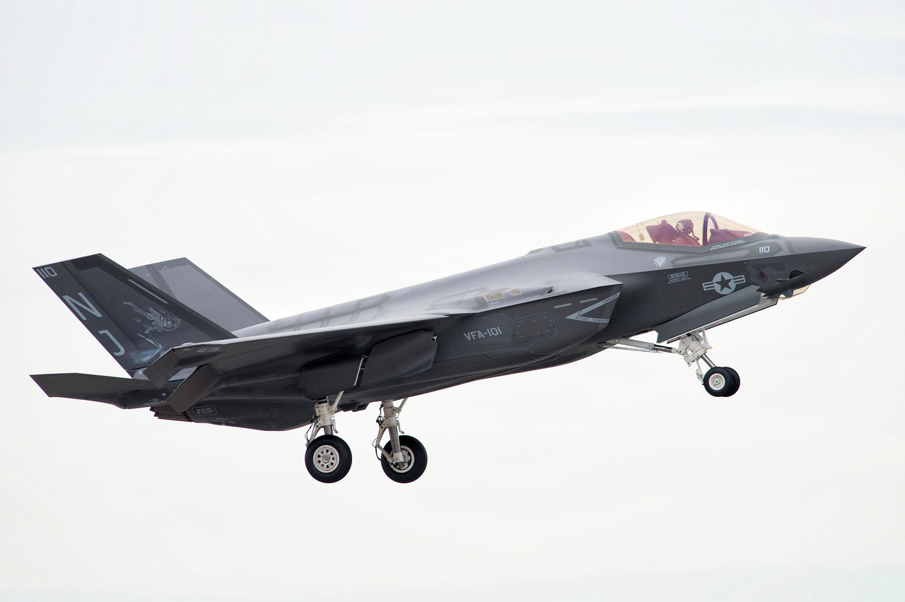 NSAP 2014 Blue Angels Homecoming Airshow. Lockheed Martin F-35 Lightning II from VF-101.