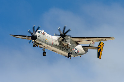 "US Navy Grumman C-2A ""Greyhound"", Bureau number 162175. Naval Base Coronado, Aug. 19th, 2014. Coronado Island."