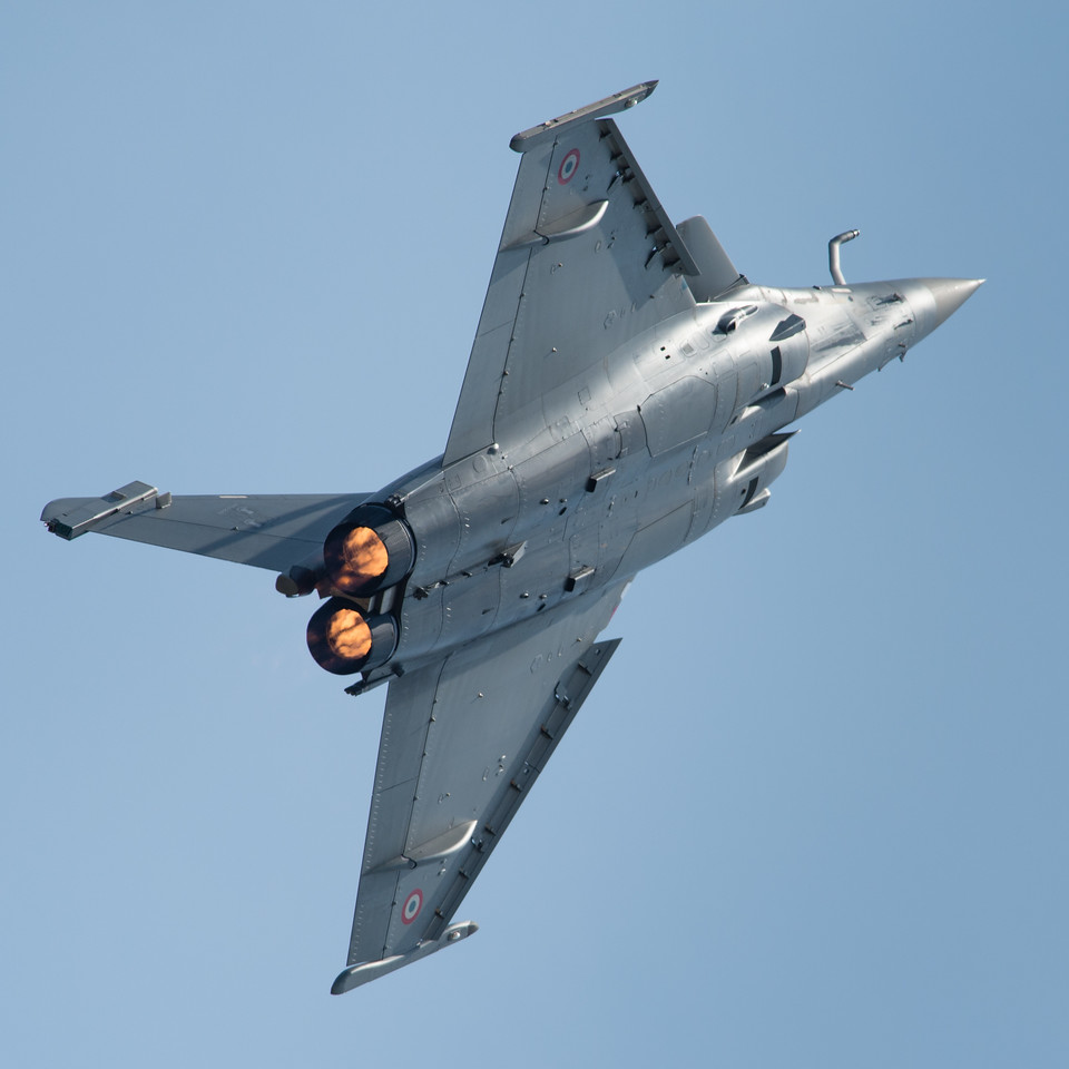 French Air Force 80th Anniversary Air Show. Spotter's Day at Cazaux AFB. Dassault Rafale.