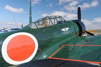 Wings Over Camarillo. Aug. 24th, 2014. SoCal CAF Mitsubishi A6M3 Model 22 Zero.