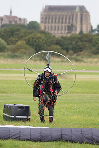 Paraglider (with engine), Shoreham 2014