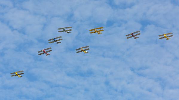 DE-992, DH-82A, De Havilland, G-ACDA, G-AHOO, G-AIXJ, G-AMHF, G-ANEM, G-ANFM, G-AOBX, Shoreham 2014, The De Havilland School of Aviation, Tiger Moth