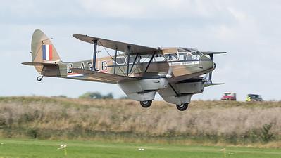 DH-89A, De Havilland, Dragon Rapide, G-AGJG, Scottish Airways Ltd, Shoreham 2014