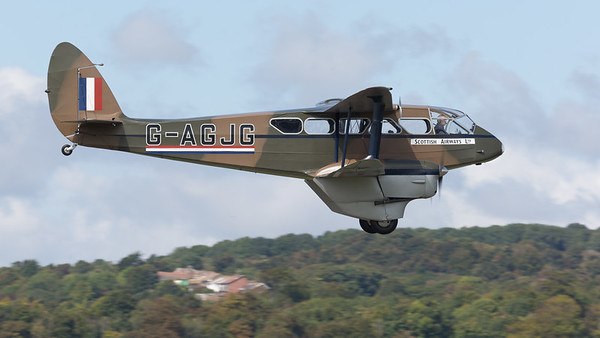 DH-89A, De Havilland, Dragon Rapide, G-AGJG, Scottish Airways Ltd, Shoreham 2014