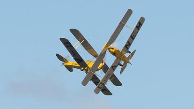 DH-82A, De Havilland, G-ANEM, G-AOBX, Shoreham 2014, Tiger Moth