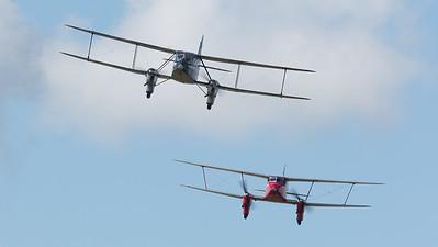 DH-89A, DH90A, De Havilland, Dragon Rapide, Dragonfly, G-AEDU, G-AGJG, Scottish Airways Ltd, Shoreham 2014