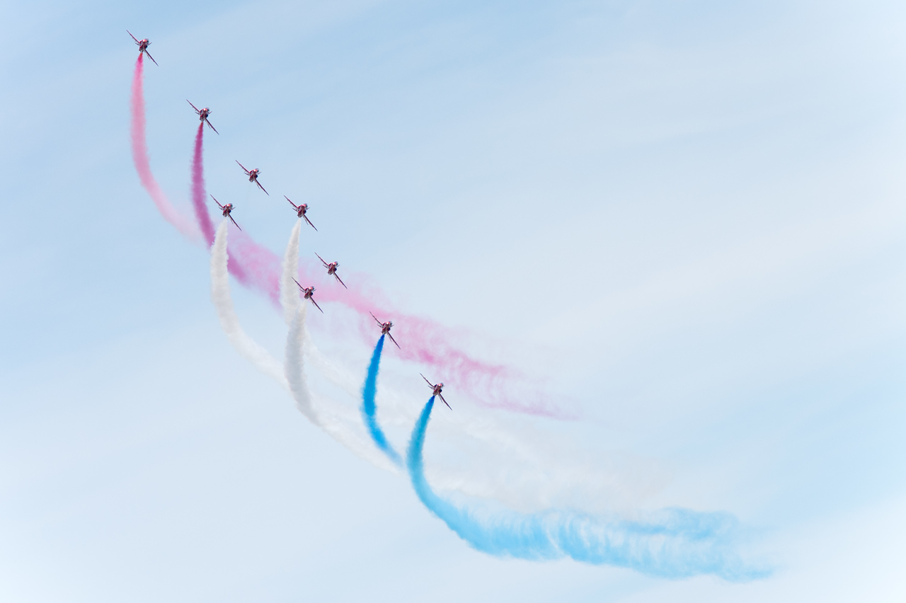 Royal Air Force Aerobatic Team at Tours in the Loire Valley. June 7th, 2015.