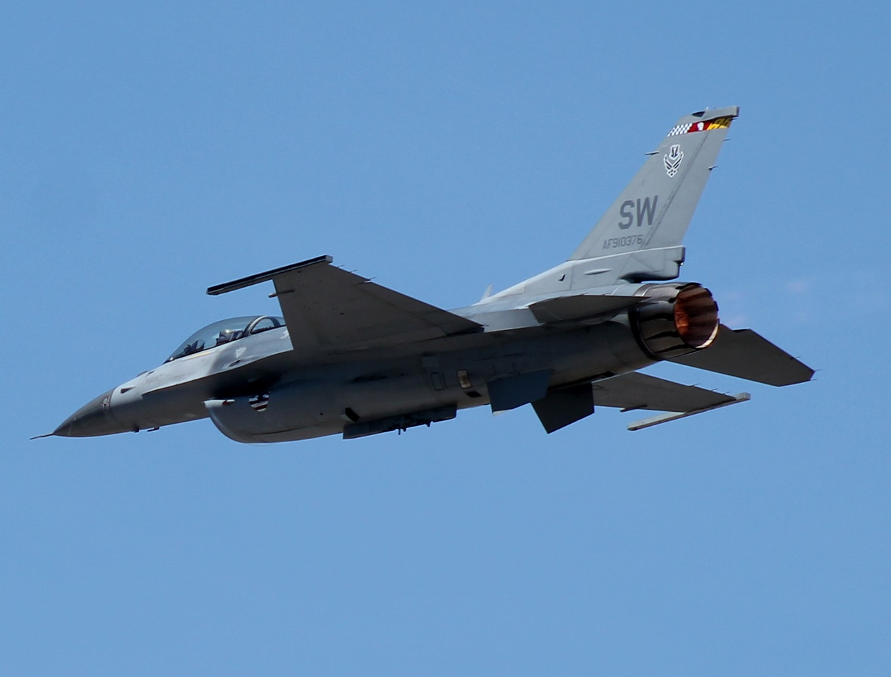 F-16 [91-0376] from Shaw AFB South Carolina.