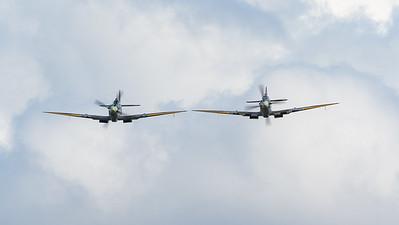 Kent Spitfire, Old Sarum, RW382, Spirit of Kent, Spitfire, Spitfire MK IXe, Supermarine, TA805, aircraft, airshow