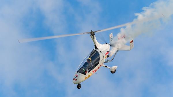 Calidus, G-ULUL, Gyrocopter, Gyroplane, Old Sarum, Rotorsport UK, aircraft, airshow
