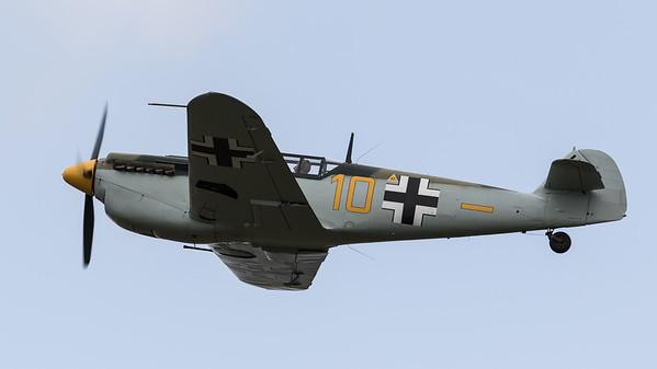 Buchon Bf109, G-AWHK, Hispano, RIAT 2015