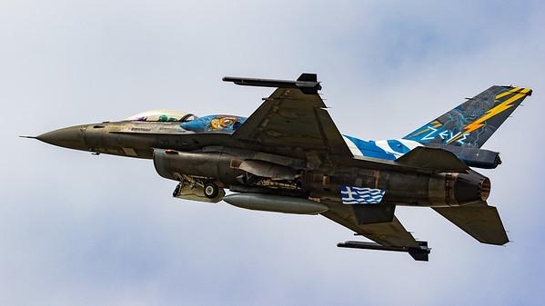 523, Arrivals, F-16 Block 52+, F-16 Fighting Falcon, Greek Air Force, Hellenic Air Force, Lockheed Martin, RIAT 2015, Team Zeus, Viper