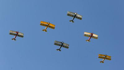 DE-992, DH-82A, De Havilland, Display Team, G-AHOO, G-ANCS, G-ANEN, G-ANKZ, G-APLU, N-6466, Shoreham 2015, Tiger Moth, Tiger Nine Formation Team